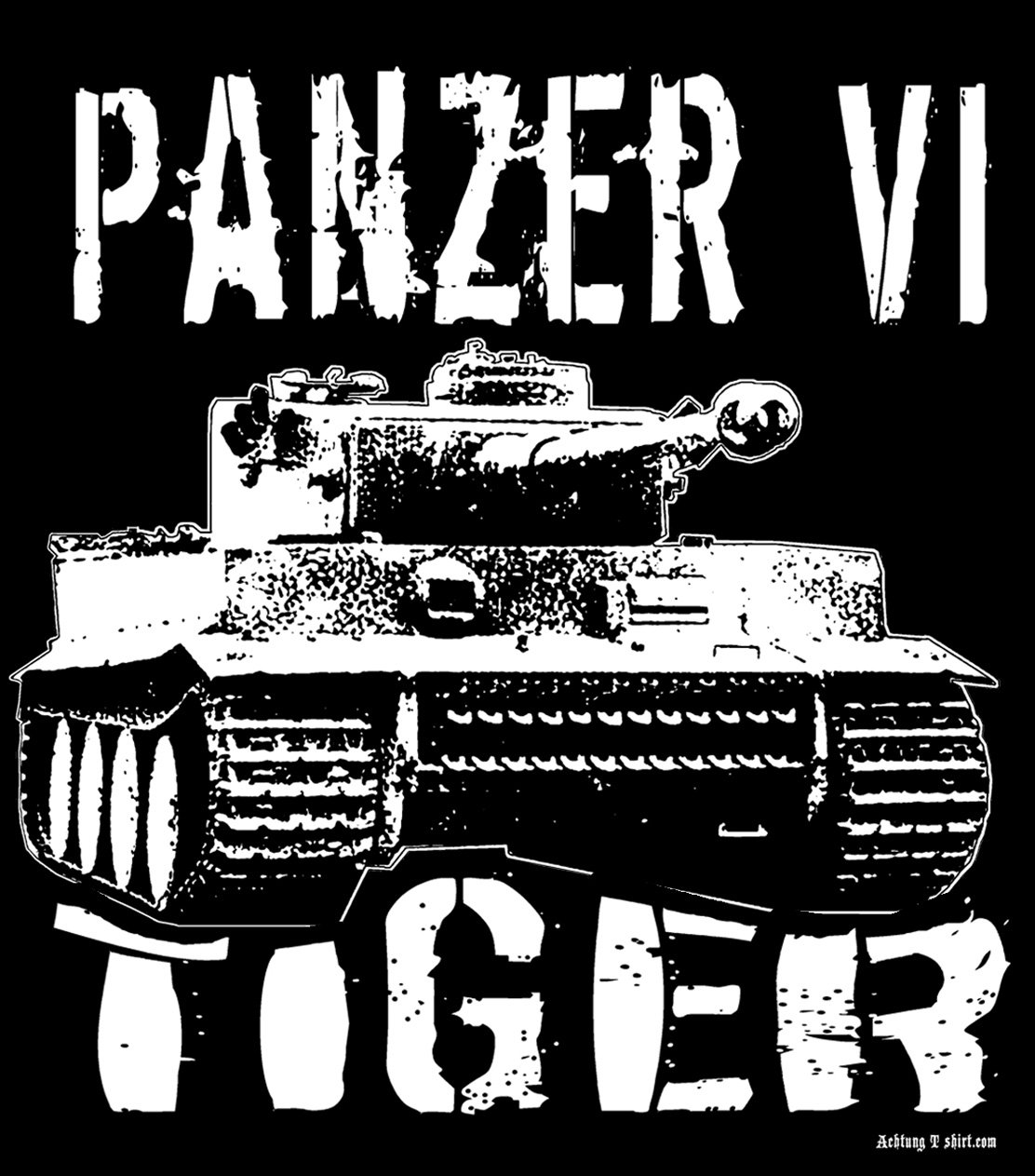 panzer tiger tank ww2 german army kursk battle tee shirt black
